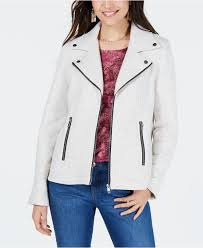 style co women s gray petite french terry moto jacket created for macy s