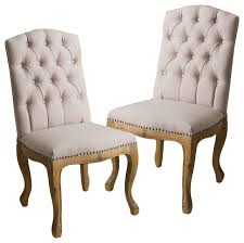 jolie french design weathered wood dining chairs set of 2