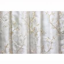 royal leaves embroidered sheer curtain fabric dry window treatment fabric bedroom curtain grommet curtain panels window curtain yardage