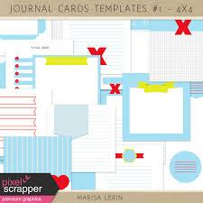 Pocket Card Templates Kit 1 4x4 By Marisa Lerin Graphics