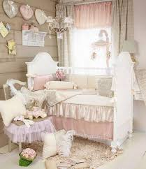 kids bed design look nursery crib soft shabby chic kids bedding chair ruffle cushions chandelier wall decors ad curtains adorable simple shabby chic kids