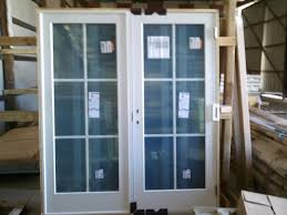 ready to install andersen french style door viewed from inner part with large glass screen