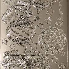 Sticker Nr1718 Silber Weihnachten Christbaumschmuck Kugeln