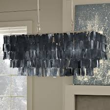 black capiz shell tiered chandelier