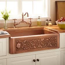 33 vine design copper farmhouse sink