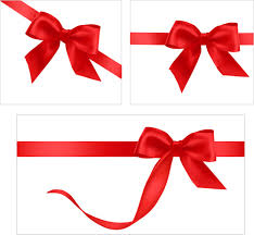 Red Ribbon Design Gift Card With Red Ribbons Design Vector Free Vector In