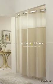mystery beige mystery white this hookless shower curtain