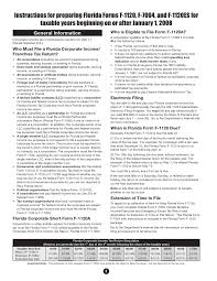 form 1120a instructions for preparing form f 1120 for 2008 tax year r 01 09