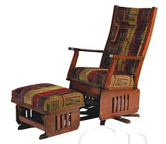 amish leola mission swivel glider rocking chair with optional ottoman glider rocker plans