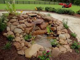 building a garden pond waterfall