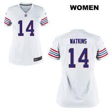 Womens Buffalo Nike Watkins Throwback Football Jersey No Game Bills 14 White Sammy|Chargers 38, 49ers 35 (7-8)
