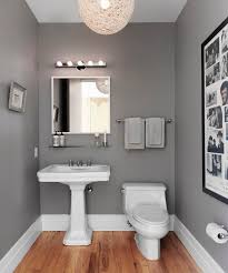 half bathroom ideas gray. Unique Gray Good Example Of Hardwood Floors And Gray Walls Love It With The Black  Some Kind Accent Color  LL 5th WaLL Sweepstakes Pinterest Powder Room  And Half Bathroom Ideas Gray A