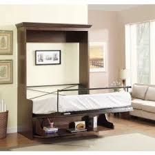 Twin murphy bed desk Storage Natanielle Full Murphy Bed With Desk Walnut 2 Multimo Beds Murphy Bed With Desk Visual Hunt
