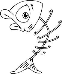 Small Picture Coloring Pages Of Fish Bones Coloring Pages