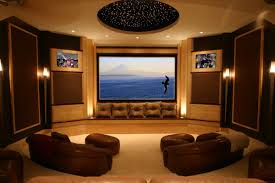 movie room lighting. Movie Room Media Decorating Idea Applying Wall Sconces Home Theater Lighting Fixtures R