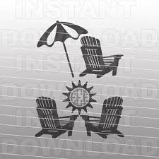 adirondack chair silhouette. Adirondack Chairs SVG File,Beach Monogram File-Cutting Template-Vector Clip Art For Commercial \u0026 Personal Use-Cricut,Cameo,Silhouette Chair Silhouette