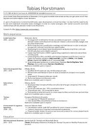 Exceptional Sales Representative Resume Templates Objective Outside
