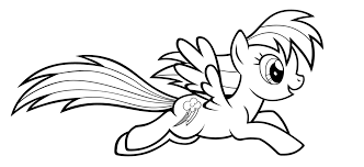 Small Picture Rainbow Dash Running Coloring Page Free Coloring Pages Online