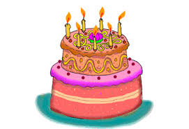 Animated Gif Showing Candles On A Birthday Cake Being Blown Out As