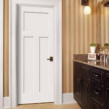 white interior 3 panel doors. Perfect White JELDWEN Craftsman Smooth 3Panel Solid Core Primed Molded Prehung Interior  Door  THDJW137100071 At The Home Depot With White 3 Panel Doors I