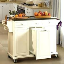 kitchen island cart white. White Kitchen Island Carts Cart With Trash Pull Use For My . I