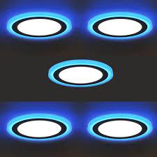 Giảm 26 %】 Bộ 5 đèn led nổi ốp trần 24w tròn 2 màu 3 chế độ
