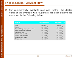 friction loss in turbulent flow sc 1 st slideplayer