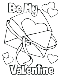 Coloring Pages Free Printable Valentines Day Card Coloring Pages