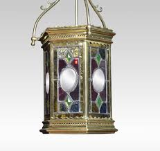 victorian stained glass hall lantern antique hall lanterns