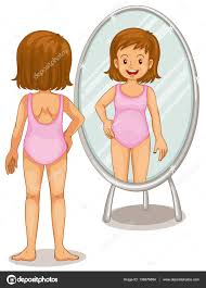 child looking in mirror clipart. girl looking at mirror \u2014 stock vector #138676884 child in clipart