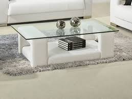 coffee table white cof leather coffee table modern bonded modrest all glass round ottoman cocktail fabric