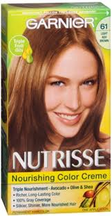 garnier nutrisse haircolor 61 mochaccino light ash brown 1 each pack of 3 walmart