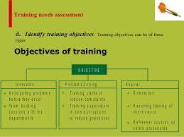 On Job Training Objectives Training Needs On Job And Off Job