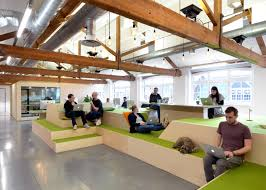 new office designs. Fine New Airbnbu0027s New Offices In Londonu0027s Clerkenwell Illustrate A Move Towards  Domestication Of The Workplace Intended New Office Designs C