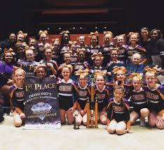 our allstar peive cheer squads practice two nights a week they pete as a senior level 3 squad and a junior level 1 squad