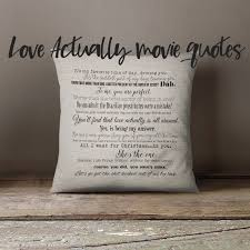 Love Actually Movie Quote Pillow Cover 40x40inch Movie Etsy Mesmerizing Love Actually Quotes