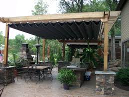 Have you ever seen a richer looking pergola? Love the wood and stone  together. #pergola | The Great Outdoors | Pinterest | Decking, C