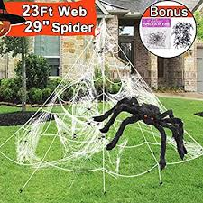 Outdoor <b>Halloween Decorations</b> White Web Giant Halloween <b>Spider</b> ...
