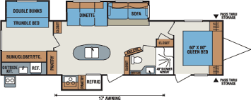 travel trailer floor plans. 2016 K-Z RV Spree 329IK Travel Trailer Floorplan Floor Plans