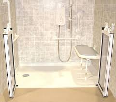 handicap shower design wheelchair accessible wall