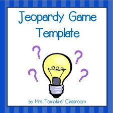 Jeopardy Game Template Jeopardy Game PowerPoint Template | Activities, Classroom activities ...