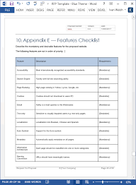 Microsoft Word Template Checklist Request For Proposal Rfp Template Ms Word Excel Templates