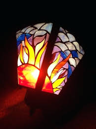 stained glass light outdoor fixtures porch mosaic fixture sunshine garden lighting home depot stained glass