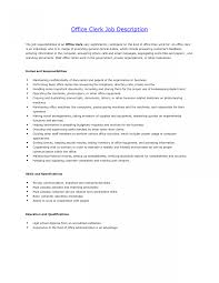 Office Clerk Job Description Office Clerk Cover Letter Download Fice Administrative Job 1