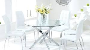 modern round glass dining table astonishing set for 4 room uk
