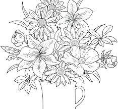 Mesmerizing Flower Coloring Pages Breathtaking Story And Garden Of