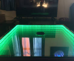 Instructables Coffee Table Infinity Mirror Table The Easy Version 6 Steps With Pictures