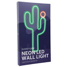 sunnylife neon wall led cactus small shut the front door on neon wall art nz with lighting shut the front door online