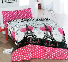 Paris Quilt   eBay & Full/Queen Size Paris Bedding Eiffel Tower Themed Quilt/Duvet Cover Set Pink Adamdwight.com