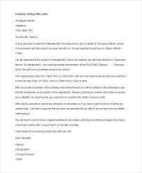 Company Offer Letter Template - 10+ Free Word, Pdf Format Download ...